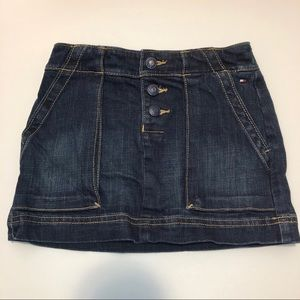 Tommy Hilfiger Girls Denim Blue Jeans Skirt sz 5